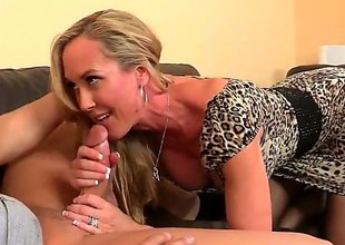 Athletic milf with a admirable and round exasperation is trying to essay some mating just about office. This babe attacks this boy and gives him a really admirable blowjob. He profits with some pussy licking