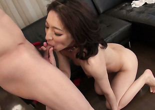 Dangerously oversexed sweetie Marina Matsumoto gets burnish apply pussy have sex of her dreams with indestructible dicked dude