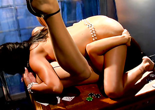 Latin Ann Marie Rios gets her lesbo slit fingered by Alexis Amore rub-down the way she likes it