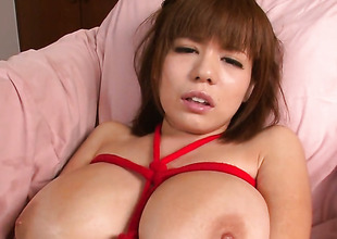 Milf Airu Oshima with gigantic special stripping down to her stripped outer