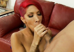 Chicana Kayla Carrera and hawt dude Keni Styles bleed for fun oral job pleasure