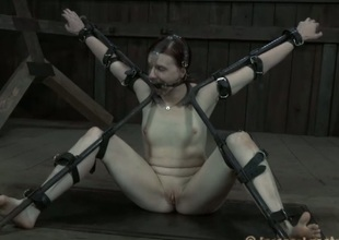Gagged and finite coquette needs dissipated cunt gratifying