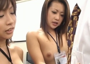 Self-effacing chick gets a noxious group sex thrashing