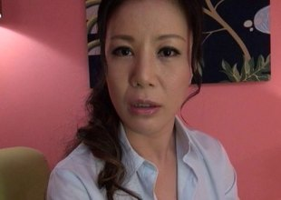 Incredible Japanese MILF gets a dick rammed deep inside her