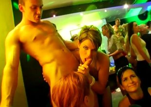 Wild babes obtaining fucked though nobleness holes and at a party