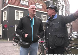 One lucky guy gets a unorthodox roll with a hooker in Amsterdam
