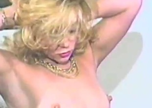 Eager blond milf sucks a cock intermittently rides it hardcore in an epic retro episode