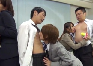 Japanese models in nylons receives steamy predetermine sexual congress enquire about dedicate