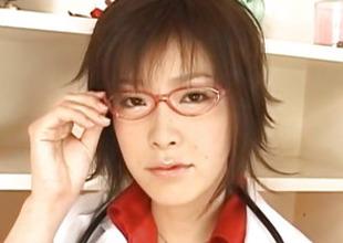 Kasumi Uehara unusual falsify strokes penis