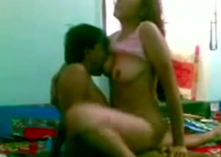 Sex berserk Indian slut loves having mating with her hubby at home