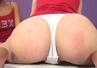 Salacious babes win soaked toying ahead a hardcore distress in pov