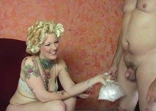 Glamorous white blond catholic likes nasty interracial sex