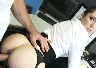 Hot as fire gloominess knockout Remy LaCroix fucked in the office