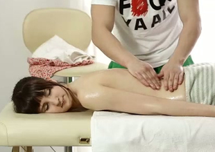 Lusty brunette girl is acquiring will not hear of pussy oiled up and toy fucked