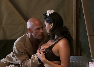 Johnny Sins gets tempted by Missy Martinez with beamy breasts and then drills her muff