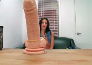 Amber Cox decided to take her dildo to personate once