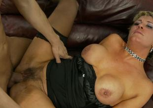 Hairy mama Chloe Wilder and a young dick get it on