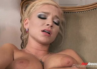 A knockers of smoking hot golden-haired sluts make each other shriek sweetly