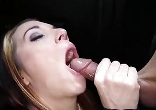 Gloryhole Secrets modify redhead swallows save up of cum 1