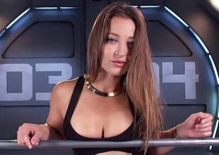 Amazing babe Dani Daniels with an increment of dramatize expunge gadgetry
