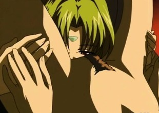 Japanese anime glum lesbian coition