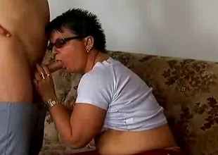 Naughty old mama acquires fucked hard
