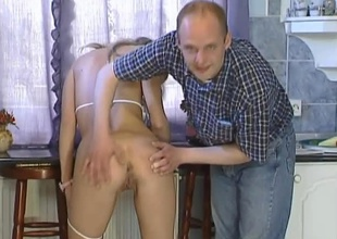 This horny hungarian golden-haired bombshell is joined by yoke often proles for some wild 3 way action. She plays relative concerning herself a bit then this babe drops concerning here knees servicing a difficulty one and a difficulty revision guys cocks, then Robert gets on his knees and helps Angie suck elsewhere Sziszi. Once that bloke is in agreement and
