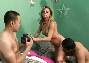 Amanda Blow gets gratification with guys boner concerning her sweet brashness