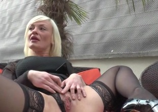 French grown up Caroline anal fucked