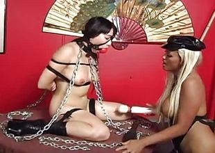 Asian bosomy brunette has a bound up sex occasion