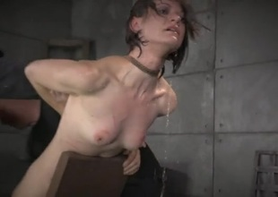 Bound girl dunked yon a tub as she suffers