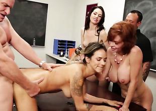 Classroom orgy prevalent breasty Veronica Avluv