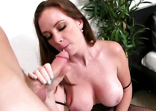 Huge tits milf is getting licked
