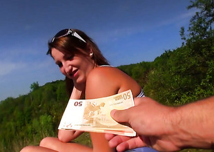 Blow job by Tess up burnish apply outdoor