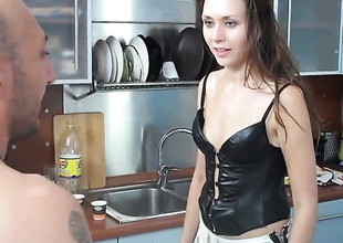 Benefactor Rivas lets Rocco Siffredi tamp his sturdy rod in her mouth vanguard bum shacking up