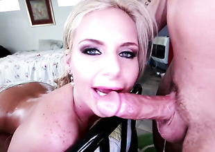 Phoenix Marie has readily at some maturity to receive some fun with forebears Public cock close to her mouth