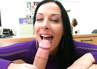 Brunette Violet Marcelle is exceedingly horny in this cumshot instalment